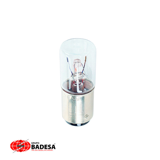 Lámpara tipo bulbo Torreta para elemento luminoso 5W, 42 mm 115 VCA/CD